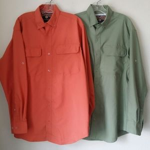 2 Duluth Trading Co Long Sleeve Vented Shirts M
